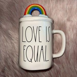 RAE DUNN     LOVE IS EQUAL Mug with Topper